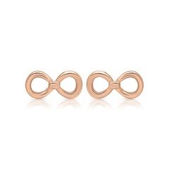 Silber Ohrstecker rosévergoldet Infinity