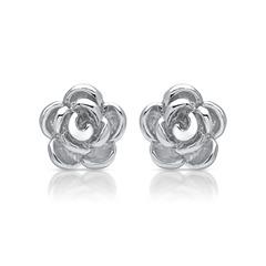 925er Silber Ohrstecker Rosenblüte