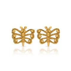 Ohrstecker 925 Silber vergoldet Schmetterling