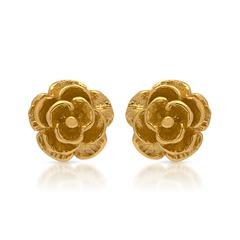 Ohrstecker vergoldetes 925er Silber Blütenform