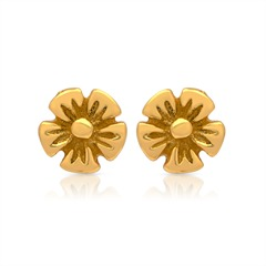 Gelbvergoldete Ohrstecker 925 Silber Blütenform