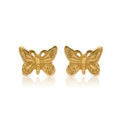 Ohrschmuck 925 Silber vergoldet Schmetterlinge