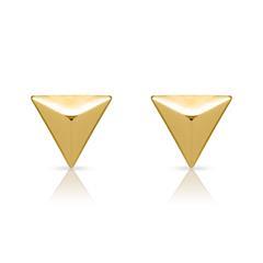 Ohrstecker Pyramidenform 925er Silber vergoldet