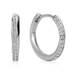 Raffiniert gestaltete Creolen 925er Silber