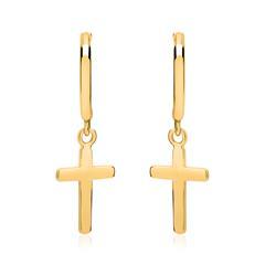 Klappcreolen Kreuze aus 925er Silber vergoldet