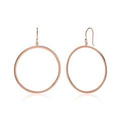 Ohrhänger Kreise aus rosévergoldetem 925er Silber