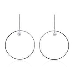 Ohrhänger für Damen aus 925er Silber mit Zirkonia