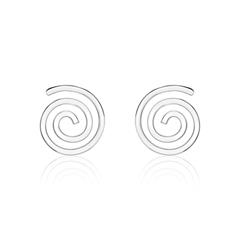 Ohrstecker für Damen Spiralen aus Sterlingsilber