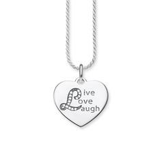 Kette Live Love Laugh aus 925er Silber