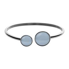 Armreif silber mit blauen Stein