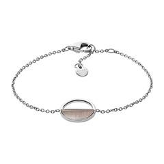 Armband Agnethe aus Edelstahl mit Perlmutt