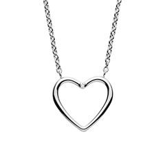 Herzkette Katrine aus Edelstahl mit Diamant