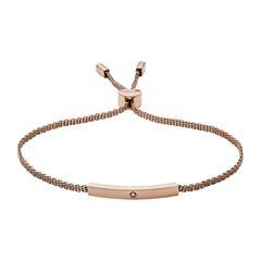 Armband Helena aus rosévergoldetem Edelstahl Diamant