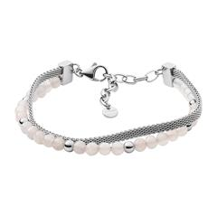 Armband Anette für Damen aus Edelstahl mit Rosenquarz