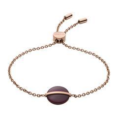 Damen Armband Sea Glass aus Edelstahl, rosévergoldet