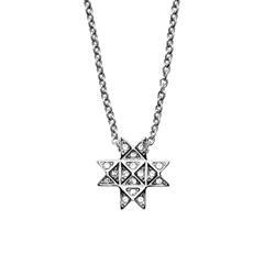 Halskette Elin für Damen aus Edelstahl mit Glassteinen