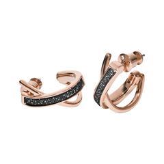 Ohrringe Merete für Damen aus rosévergoldetem Edelstahl