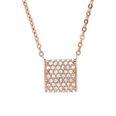 Gravierbare Damen Halskette Elin aus Edelstahl, rosé