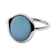 Ring für Damen aus Edelstahl mit Glasstein
