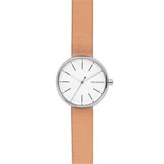 Uhr für Damen mit braunem Lederband