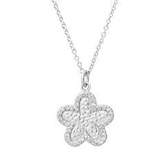 925 Silberkette mit Blumenanhänger