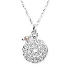 Silberkette 925 mit Anhänger und Perle