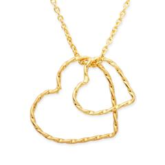 Silberkette 925 vergoldet mit Herzanhänger