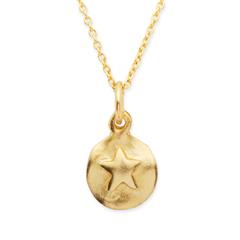 Silberkette 925 vergoldet mit Sternanhänger