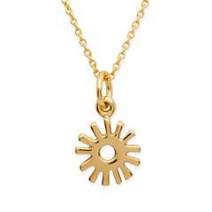 Vergoldete Silberkette mit Sonnenanhänger