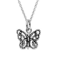 Silberkette 925 mit Schmetterlinganhänger