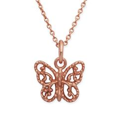 Silberkette 925 vergoldet Schmetterlinganhänger