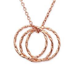 Rose vergoldete 925 Silberkette mit Anhänger