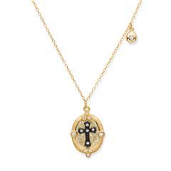 Vergoldete 925 Silberkette mit Kreuzanhänger
