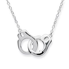 925er Silberkette in Handschellenoptik