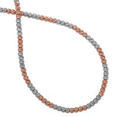 Zweifarbige Silberkette