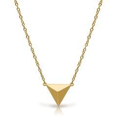 Kette Pyramiden-Anhänger 925er Silber vergoldet