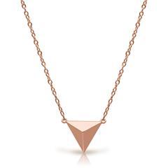Kette Pyramiden-Anhänger Silber rosévergoldet