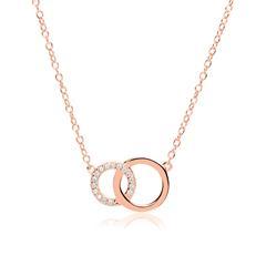 Damenkette Kreise 925er Silber rosévergoldet