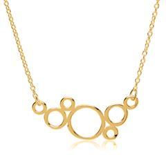 Vergoldete Sterlingsilber Kette im Kreis-Design