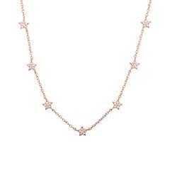 Halskette 925er Silber rosévergoldet Zirkonia