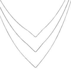 Layer Kette aus Sterlingsilber
