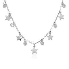 925er Silberkette Sterne mit Zirkonia