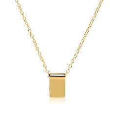 Halskette aus vergoldetem Sterlingsilber gravierbar