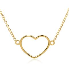 Heart Chain In Gold-Plated Sterling Silver
