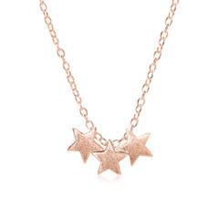 Rosévergoldete 925er Silberkette Sterne