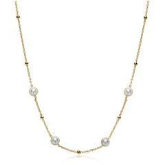 Kette aus vergoldetem Sterlingsilber mit Perlen