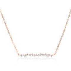 Kette für Damen aus 925er Silber, rosévergoldet