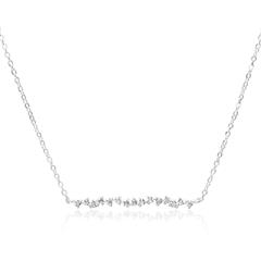 925er Silberkette für Damen mit Zirkoniasteinen