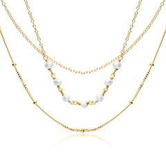 Halskette für Damen aus vergoldetem 925er Silber Perlen