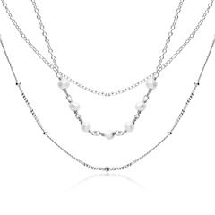Damenkette aus 925er Silber, dreireihig